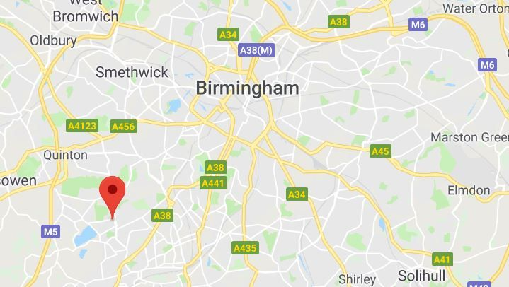 Gutter Cleaning in Birmingham Map