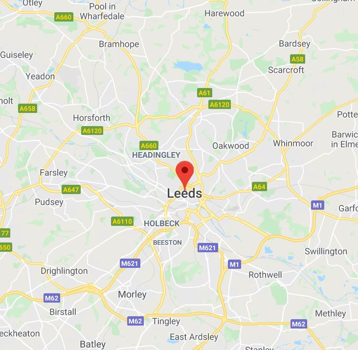 Carpet Cleaning in Leeds Map