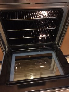 Oven after deep cleaning