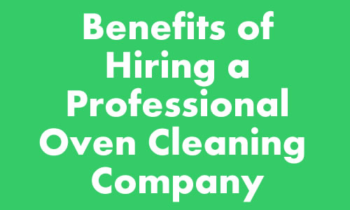 Hire professional oven cleaners