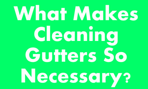 Why Clean Out Your Gutters?